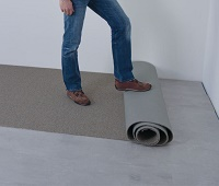 Укладка ковролина в помещении